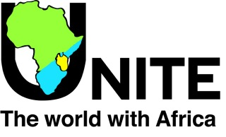 Unite the world with Africa logo